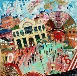 Covent Garden Market by Richard Burel -  sized 31x32 inches. Available from Whitewall Galleries